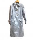MIU MIU(ミュウミュウ)の古着「ステンカラーコート」|スカイブルー