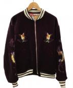 SEVESKIG(セヴシグ)の古着「ベロアスーベニアジャケット」|マルチカラー