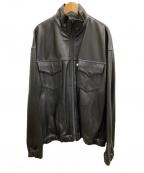 WESTOVERALLS(ウエストオーバーオールズ)の古着「レザージャケット」|ブラック