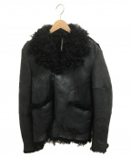 blackbarrett(ブラックバレット)の古着「リアルムートンライダースジャケット」 ブラック