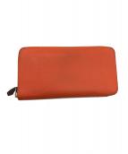 HERMES(エルメス)の古着「2つ折り長財布」|オレンジ