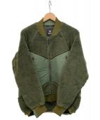 GOLDWIN(ゴールドウィン)の古着「フロントフリースジャケット」|カーキ