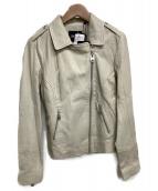 DOMA(ドマ)の古着「レザージャケット」 ベージュ