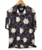 CDG JUNYA WATANABE MAN(コムデギャルソン ジュンヤワタナベマン)の古着「アロハシャツ」 ホワイト×ブラック