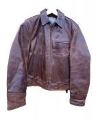 Aero LEATHER(エアロレザー)の古着「90`Sシングルレザージャケット」|ブラウン