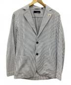 LARDINI(ラルディーニ)の古着「シャツジャケット」|ブルー×ホワイト