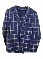 TOMORROW LAND PILGRIM(トゥモローランド ピルグリム)の古着「2Bジャケット」|ネイビー×ホワイト
