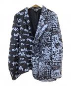 BLACK COMME des GARCONS(ブラックコムデギャルソン)の古着「リメイクアシンメトリーテーラードジャケット」|ブラック×グレー