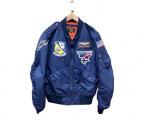 AVIREX(アヴィレックス)の古着「MA-1フライトジャケット」|ネイビー