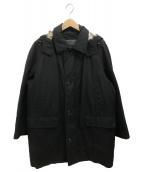 BURBERRY LONDON(バーバリーロンドン)の古着「ダウンライナー付ステンカラーコート」 ブラック