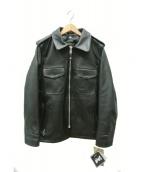 SCHOTT BROS.(ショットブロス)の古着「レザーポリスマンジャケット」|ブラック