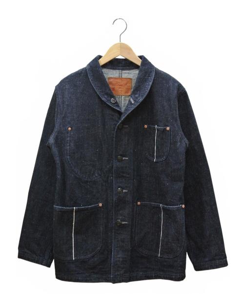 STUDIO DARTISAN&SA(ステュディオ・ダ・ルチザン)STUDIO DARTISAN&SA (ステュディオ・ダ・ルチザン) オリジナルネップショールカラーデニムジャケット インディゴ サイズ:38の古着・服飾アイテム