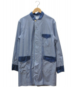 POST OALLS×BEAMS PLUS(ポストオーバーオールズ×ビームスプラス)の古着「別注シャンブレーショップコート」|ブルー