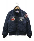 AVIREX(アビレックス)の古着「MA-1ジャケット」|ネイビー