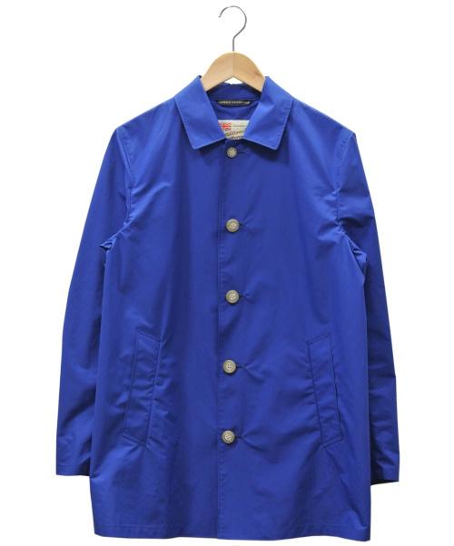 Traditional Weatherwear(トラディショナル ウェザーウェア)Traditional Weatherwear (トラディショナル ウェザーウェア) ステンカラーコート ブルー サイズ:38の古着・服飾アイテム