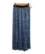 Spick and Span(スピックアンドスパン)の古着「ペイズリーマキシスカート」|ブルー×ネイビー