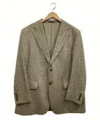 BURBERRY LONDON(バーバリーロンドン)の古着「ピュアカシミアテーラードジャケット」 ブラウン