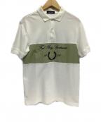 FRED PERRY(フレッドペリー)の古着「アルシーヴブランディングポロシャツ」|ホワイト