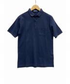 FRED PERRY(フレッドペリー)の古着「シャドーストライプポロシャツ」|ネイビー