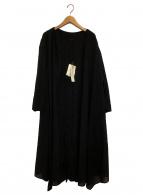 VERMEIL par iena(ヴェルメイユ パー イエナ)の古着「ウール混ギャザーワンピース」|ブラック