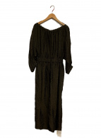 VERMEIL par iena(ヴェルメイユ パー イエナ)の古着「ドルマンバルーントップワンピース」|ブラウン×ブラック
