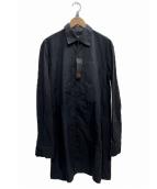 Y-3(ワイスリー)の古着「カットソー切替ロングシャツ」 ブラック