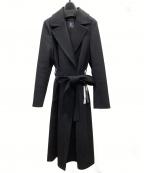 M-premierBLACK(エルプルミエラブラック)の古着「カシミヤベルテッドロングコート」 ブラック