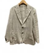 TAGLIATORE()の古着「シルク&リネンメッシュ2Bジャケット」|ベージュ