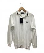FRED PERRY(フレッドペリー)の古着「長袖ポロシャツ」|ホワイト