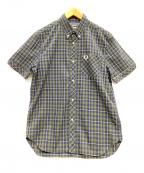 FRED PERRY(フレッドペリー)の古着「半袖BDシャツ」|ネイビー×カーキ
