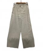 UNTITLED()の古着「ファブリカヴィスリネンネオイージーパンツ」|グレー