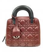 Christian Dior(クリスチャン ディオール)の古着「2WAYハンドバッグ」|ワインレッド×ブラック
