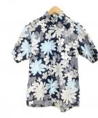 BURBERRY BLACK LABEL(バーバリーブラックレーベル)の古着「アロハシャツ」 ネイビー×ブルー
