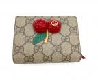 ()の古着「2つ折り財布」|ブラウン×レッド