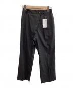 SHIPS(シップス)の古着「リネンライククロップドパンツ」 ブラック