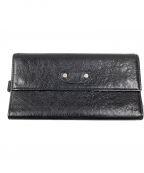 BALENCIAGA(バレンシアガ)の古着「チェーン付長財布」 ブラック