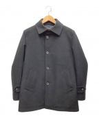 MACKINTOSH PHILOSOPHY(マッキントッシュフィロソフィー)の古着「メルトンステンカラーコート」 ブラック