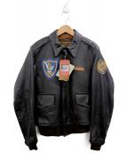 AVIREX(アヴィレックス)の古着「A-2フライトジャケット」 ブラウン