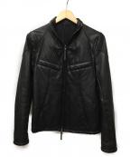 THE VIRIDI-ANNE(ザビリシアン)の古着「カウレザージャケット」 ブラック