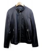 BLACK LABEL CRESTBRIDGE(ブラックレーベルクレストブリッジ)の古着「レザージャケット」 ブラック
