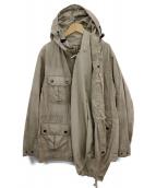 MIHARA YASUHIRO(ミハラヤスヒロ)の古着「アシンメトリーフーデッドコート」|ベージュ