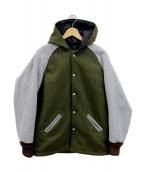 SKOOKUM(スクーカム)の古着「フード付アワードジャケット」|グリーン×グレー