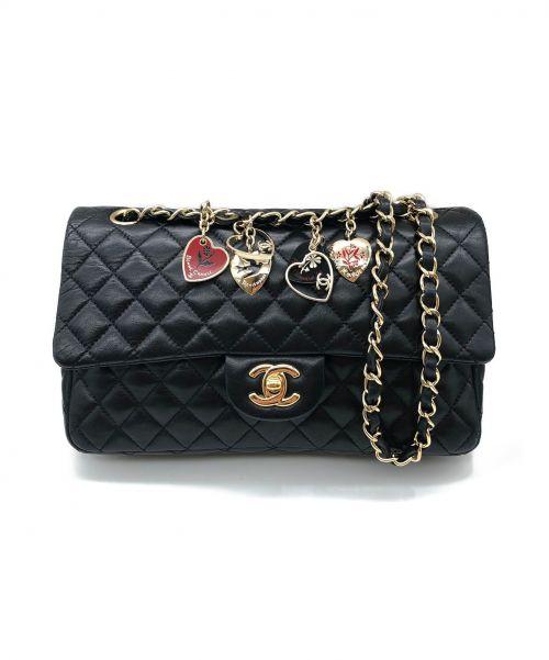 CHANEL(シャネル)CHANEL (シャネル) バレンタイン限定チェーンショルダーバッグ ブラック サイズ:25 マトラッセの古着・服飾アイテム
