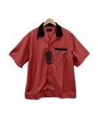 MAIDEN NOIR(メイデン ノアール)の古着「ボーリングシャツ」|レッド