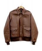 THE REAL McCOYS(リアルマッコイズ)の古着「A-2ジャケット」|ベージュ