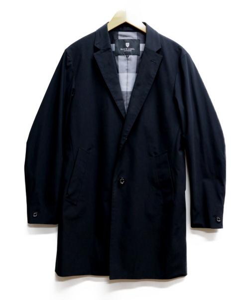 BLACK LABEL CRESTBRIDGE(ブラックレーベルクレストブリッジ)BLACK LABEL CRESTBRIDGE (ブラックレーベルクレストブリッジ) チェスターコート ブラック サイズ:Mの古着・服飾アイテム
