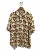STAMMBAUM(シュタンバウム)の古着「オープンカラーシャツ」|ベージュ