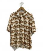 STAMMBAUM(シュタンバウム)の古着「オープンカラーシャツ」 ベージュ