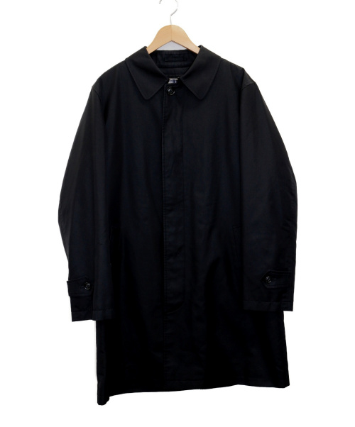 BURBERRY LONDON(バーバリーロンドン)BURBERRY LONDON (バーバリーロンドン) ステンカラーコート ブラック サイズ:L 無地の古着・服飾アイテム