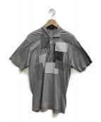 COMME des GARCONS HOMME(コムデギャルソンオム)の古着「パッチワークポロシャツ」|グレー